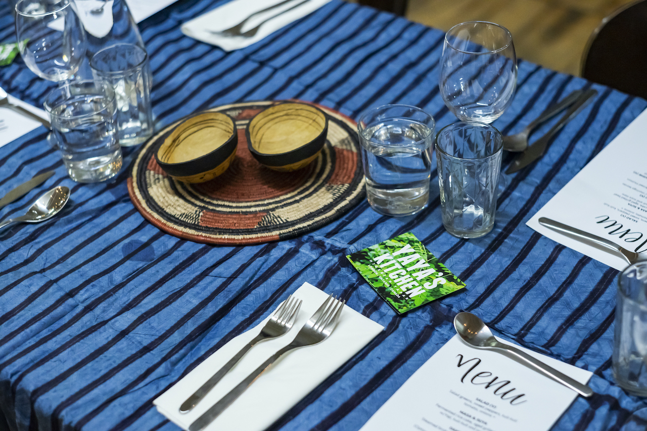 Table with cutlery and food